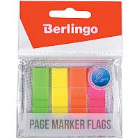 Флажки-закладки Berlingo 45*12 мм, 20л*4 неоновых цвета, в диспенсере, европодвес (арт. 254406)