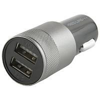 Зарядное устройство автомобильное, RED LINE C20, кабель microUSB 1 м, 2 порта USB, выходной ток 2,1 А, черное, УТ000012249 (арт. 453435)