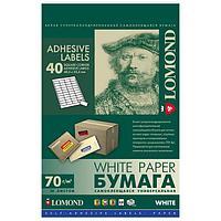 Этикетки самоклеющиеся LOMOND 48,5х25,4 мм 40 шт. на листе А4, 50 л. (арт. 065398)