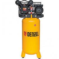 Компрессор DRV2200/100V, масляный ременный, с вертикальным ресивером, 10 бар, производительность 440 л/м, мощность 2,2 кВт Denzel (арт. 58099)