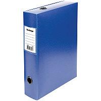 Короб архивный на кнопке Berlingo разборный, 70мм, пластик, 900мкм, синий (арт. 235783)
