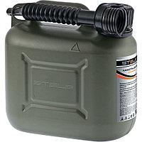 Канистра для ГСМ вертикальная 5 литров, пластиковая, усиленная STELS (арт. 53124)