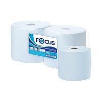 Протирочное индустриал. полотенце для рук в рулоне Focus Jumbo 2-слойная, 350м/рул, 33*35см, голубой (арт. 299964)
