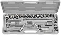 """Набор STAYER Автомобильный инструмент """"STANDARD"""" хромированное покрытие, 24 предмета (арт. 27587-H24)"""