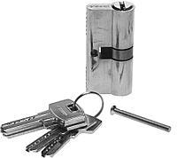 """Механизм ЗУБР """"ЭКСПЕРТ""""цилиндровый, повышенной защищенности, тип """"ключ-ключ"""", цвет хром, 6-PIN, 60мм (арт. 52105-60-2)"""
