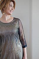 Платье Balerina 19144-2 H.Gold синее