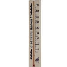 Термометр для сауны бытовой ТС-№4 (0...+150) цена деления 2, основание-дерево 80х300мм