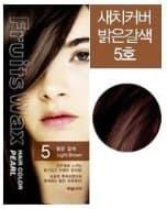 Краска для волос на фруктовой основе Fruits Wax Pearl Hair Color, оттенок 05 Light Brown, WELCOS 60 мл/60 г