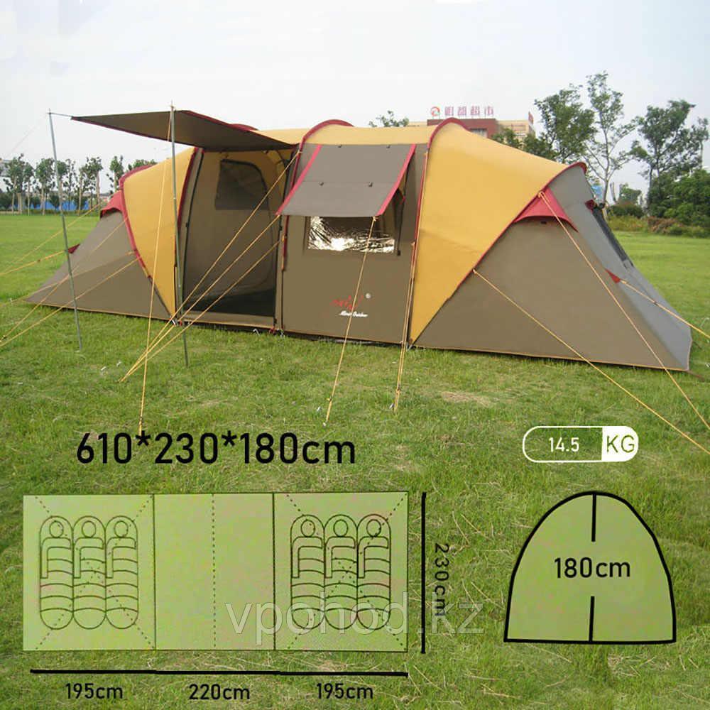 Двухслойная автоматическая 6 местная палатка Min X-ART 1820