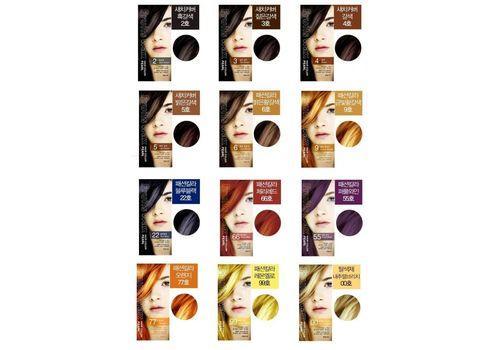 Краска для волос на фруктовой основе Fruits Wax Pearl Hair Color, оттенок 04 Brown, WELCOS 60 мл/60 г
