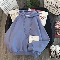 Женская толстовка с капюшоном , голубой цвет