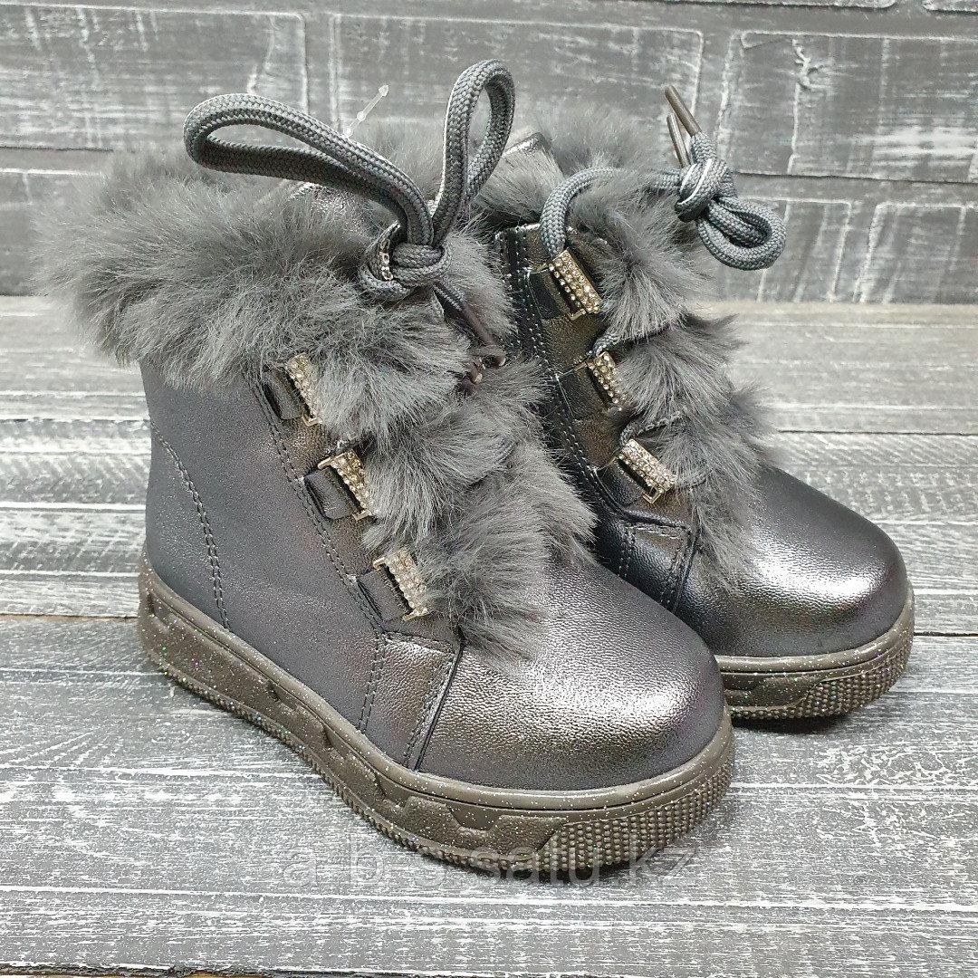 Зимние ботинки ( дев. графит)