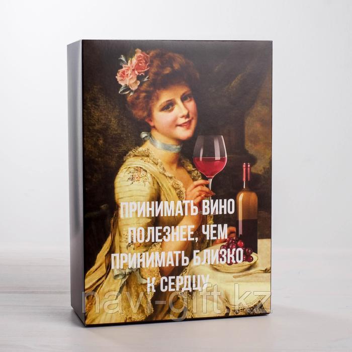 Коробка складная «Вино», 16 × 23 × 7.5 см - фото 1