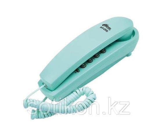 Телефон проводной Ritmix RT-005 синий, фото 2