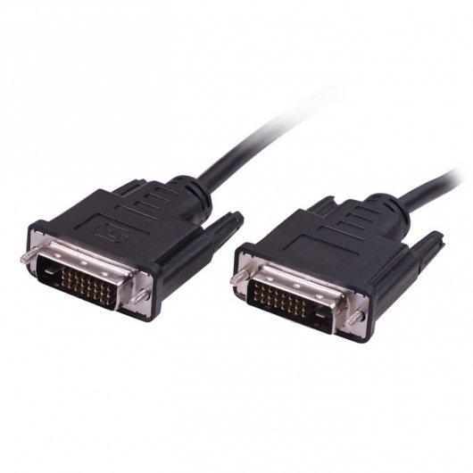 Кабель Ritmix RCC-072- DVI-DVI , 1.8m, 30AWG, 18+1, single link, CCS, никелированный