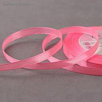 Лента атласная, 6 мм × 23 ± 1 м, цвет ярко-розовый №05