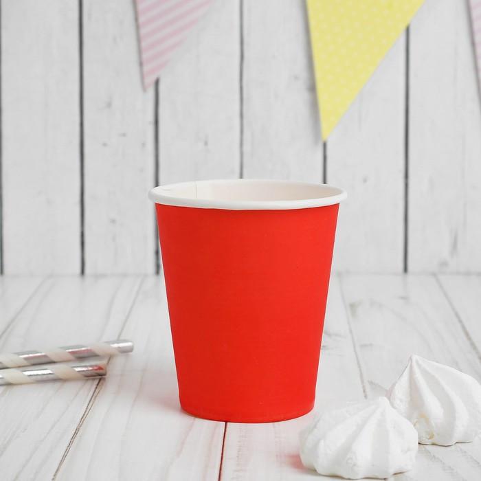 Набор стаканчиков «Девичник», наклейки, 6 шт., цвет красный