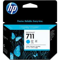 HP 711 голубой, тройная упаковка картридж для плоттеров (CZ134A)