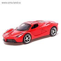 Машина металлическая «Купе», 1:32, инерция, открываются двери, цвет красный