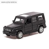 Машина металлическая «Джип», 1:32, инерция, открываются двери, цвет чёрный