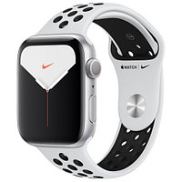 Apple Watch Nike Series 5 GPS 44mm Silver Aluminium Case with Pure Platinum/Black Nike Sport Band  (MX3V2GK/A)