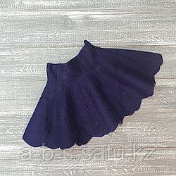 Юбка клеш синего цвета