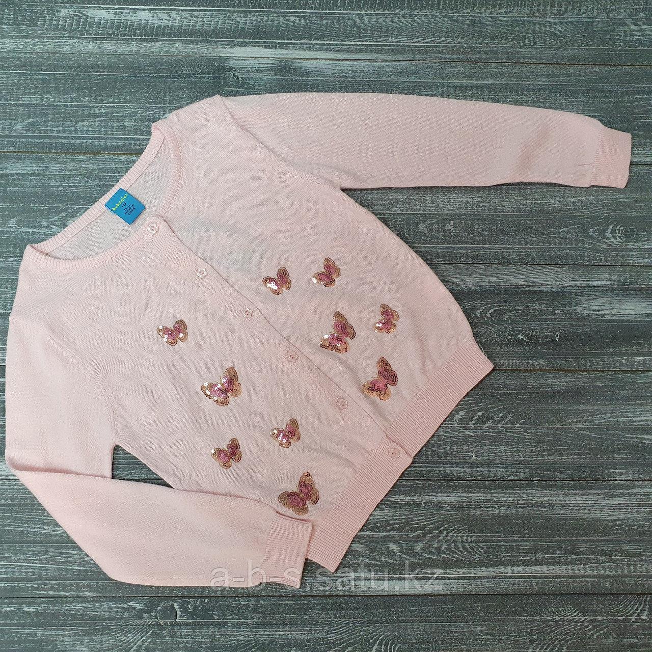 Кофта с бабочками (розовая)