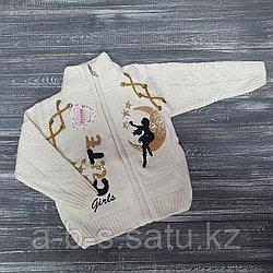 Вязанная кофта на замочке для девочек Cute girls