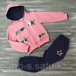 Спортивный костюм розовый со звездами