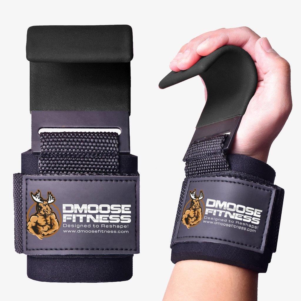 Крючки для фитнеса и тяжелой атлетики (пара) DMOOSE FITNESS