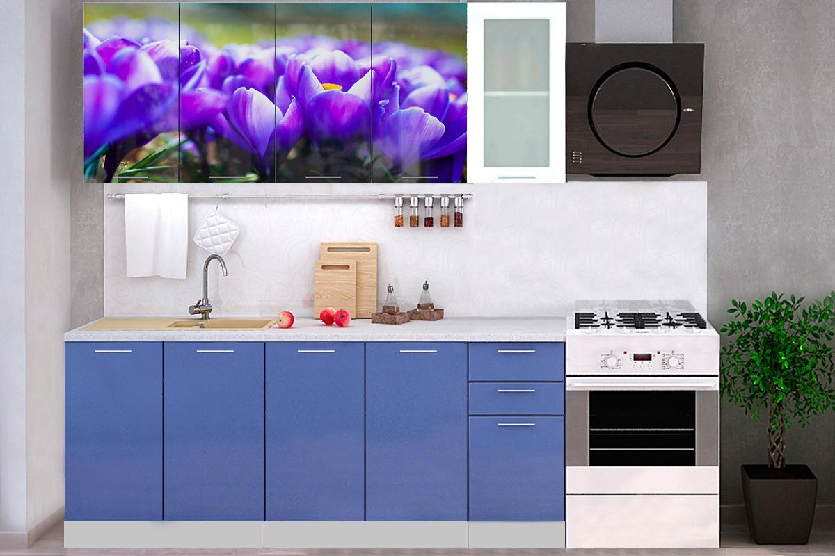 Комплект мебели для кухни Подснежник МДФ фотопечать 2000, Рисунок Светлый, Стендмебель(Россия)