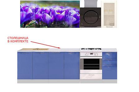 Комплект мебели для кухни Подснежник МДФ фотопечать 1800, Рисунок Светлый, Стендмебель(Россия), фото 2