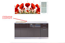 Комплект мебели для кухни Маки МДФ фотопечать 1800, Рисунок Светлый, Стендмебель(Россия), фото 2