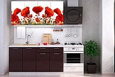 Комплект мебели для кухни Маки МДФ фотопечать 1600, Рисунок Светлый, Стендмебель(Россия), фото 3