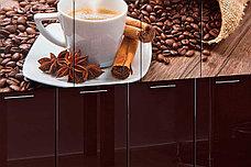Комплект мебели для кухни Кофе МДФ фотопечать 1800, Рисунок Темный, Стендмебель(Россия), фото 3