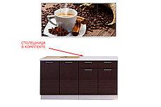 Комплект мебели для кухни Кофе МДФ фотопечать 1600, Рисунок Темный, Стендмебель(Россия), фото 2