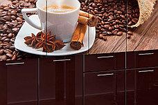 Комплект мебели для кухни Кофе МДФ фотопечать 1600, Рисунок Темный, Стендмебель(Россия), фото 3