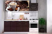 Комплект мебели для кухни Кофе МДФ фотопечать 1600, Рисунок Темный, Стендмебель(Россия)