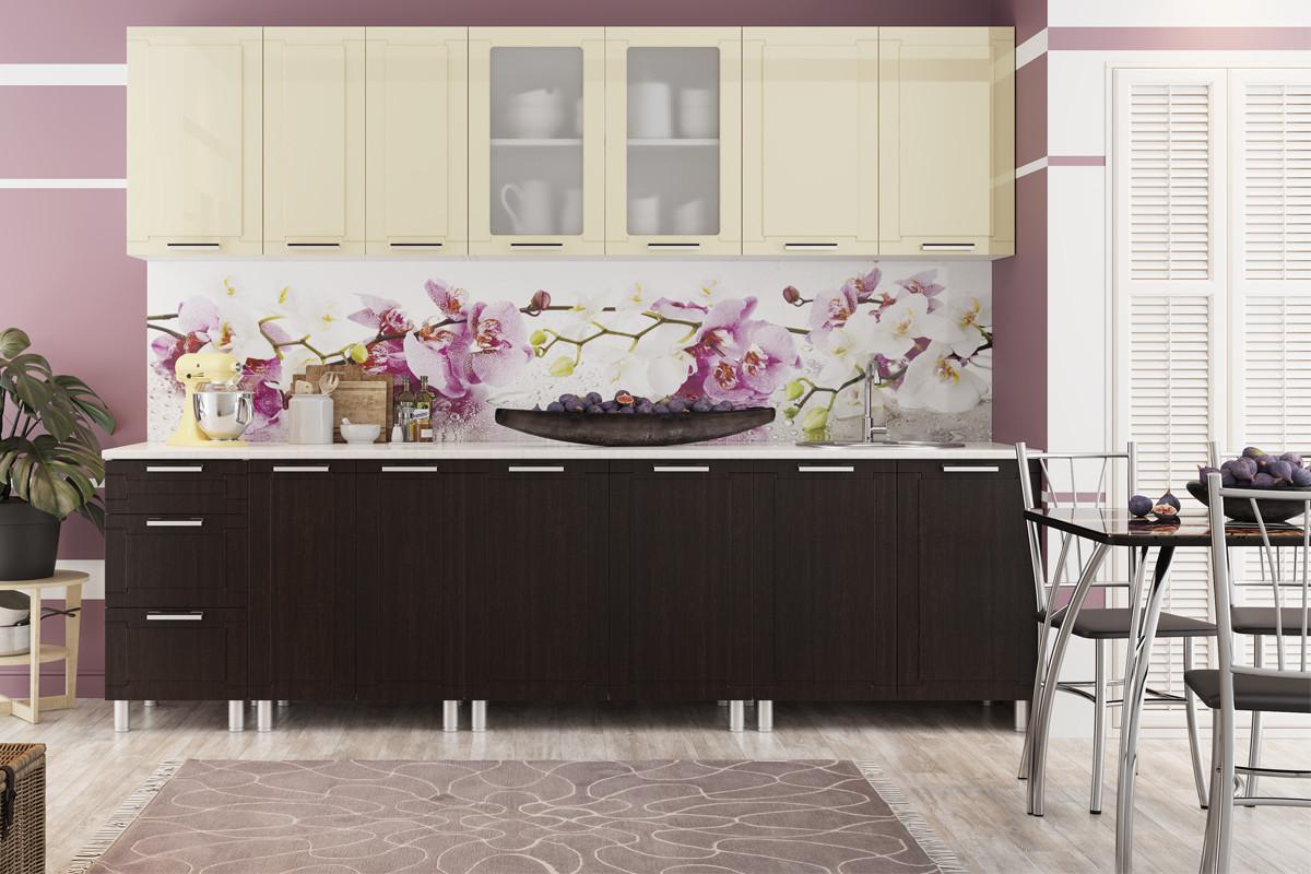 Комплект мебели для кухни Геометрия 2600, Ваниль/Венге, СВ Мебель(Россия)