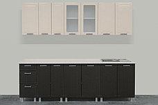 Комплект мебели для кухни Геометрия 2600, Ваниль/Венге, СВ Мебель(Россия), фото 3