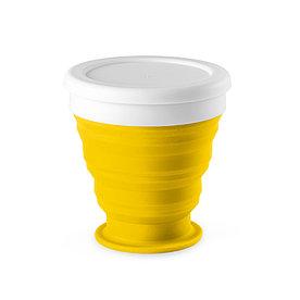 Складной силиконовый стакан, желтый