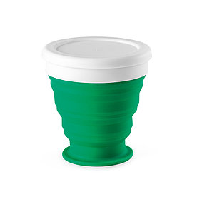 Складной силиконовый стакан, зеленый