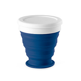 Складной силиконовый стакан, синий