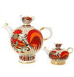 Комплект чайников Красный петух. Императорский фарфор, Санкт-Петербург, фото 2