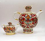 Комплект чайников Красный петух. Императорский фарфор, Санкт-Петербург, фото 3