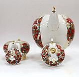 Комплект чайников Красный петух. Императорский фарфор, Санкт-Петербург, фото 4