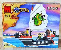 301 Пиратский корабль конст. Enlighten Pirates  211 дет, 23*19см