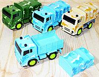 RS5674E Военный грузовик (тент убирается) 3вида,6шт в уп., цена за 1шт 14*8см, фото 1