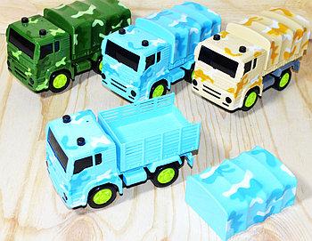 RS5674E Военный грузовик (тент убирается) 3вида,6шт в уп., цена за 1шт 14*8см