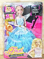JN623-H Кукла в бальном платье со скрипкой, 35*25см